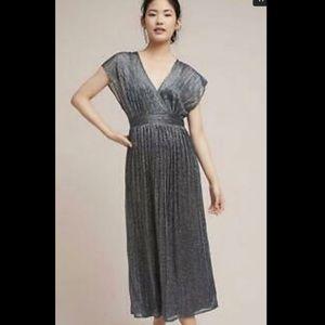 Anthropologie Moulinette Souers metallic dress